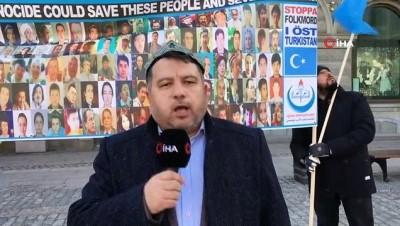 katliam -  - Uygur Türkleri, İsveç Parlamentosu önünde Çin zulmünü protesto etti