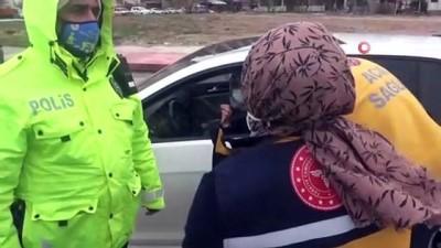 basin mensuplari -  Çocukları pozitif olan karantinadaki kadın işe giderken yakalandı