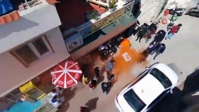 """Kadına şiddet ihbarından """"pasta"""" çıktı"""