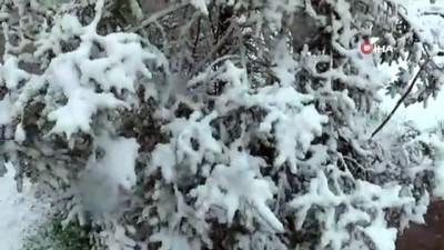 yagan -  Nisan karı Kayseri'yi beyaza bürüdü