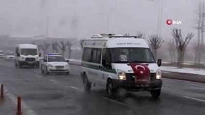 Siirt şehidinin naaşı Kayseri'ye getirildi