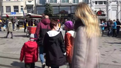 zabita -  Taksim'de polis ve zabıtadan ortaklaşa korona virüs denetimi