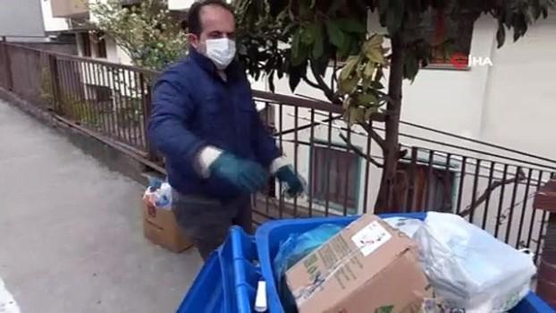 cevre temizligi -  7 yıldır geri dönüşüm için çöpleri ayırarak topluyor