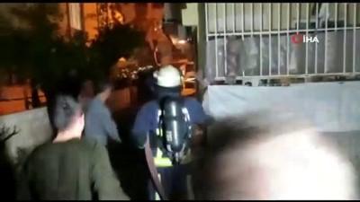 yasli cift -  Antalya'da apartman sakinlerini sokağa döken yangın