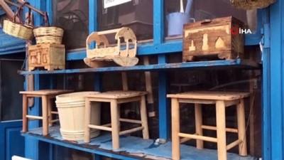 naat -  Bayburt'ta yarım asırlık dükkânda ahşap ürünler zanaatkarın elinde hayat buluyor