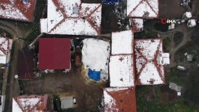 Kırıkkale-Kayseri kara yolunda yoğun sis ve kar etkili oldu