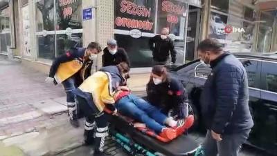 polis merkezi -  Bisikletli sürücü seyir halindeki kamyonete çarptı