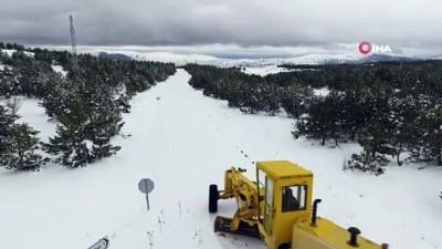 kar kalinligi -  Karabük kış aylarında görmediği karı baharda gördü