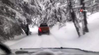 kar kalinligi -  Karabük'te kar kalınlığı 60 santime ulaştı, köy yolları kapandı
