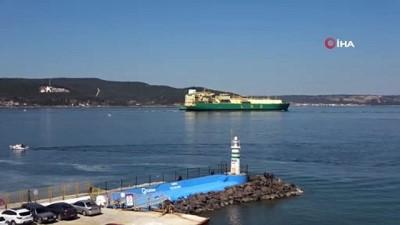 Nijerya'dan yola çıkan doğalgaz gemisi Çanakkale Boğazı'ndan geçti
