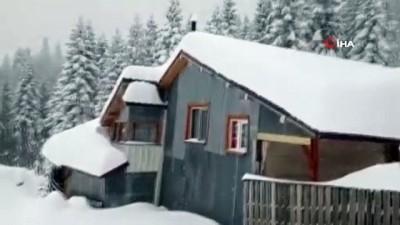 kar kalinligi -  Nisan karı şaşırttı, kar kalınlığı 120 santimetreyi buldu