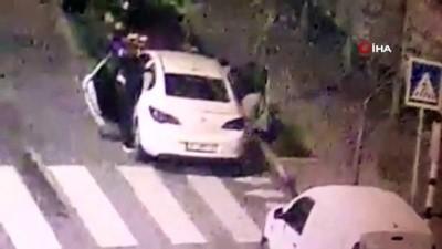 arac plakasi -  20'inin üzerinde güvenlik kamerası incelendi, hırsızlık zanlısı yakalandı