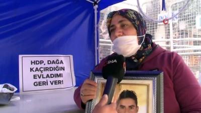 Evlat nöbetine katılan anne: 'Benim evladımı HDP kaçırmıştır'