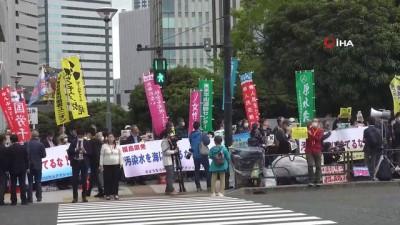 - Japonya hükümetinin radyoaktif atık su kararı tepki çekti - Protestocular Başbakanlık Ofisinin önünde toplandı