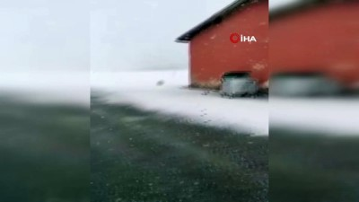 Kar yağışını sosyal medya hesabından canlı yayınla paylaşan vatandaşın takipçileri ile diyaloğu güldürdü