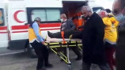 Kontrolden çıkan otomobil devrildi: 2 yaralı