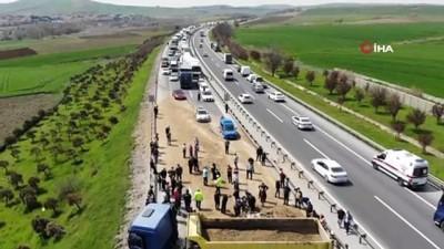 Kumburgaz TEM'de hafriyat kamyonu dehşeti: 1 ölü
