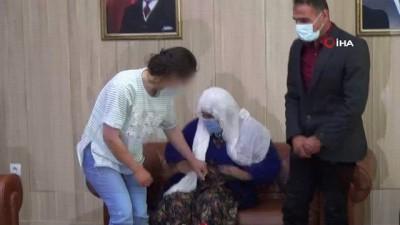 Mardin'de teslim olan kadın terörist ailesi ile böyle buluştu