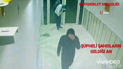 market -  Motosiklet hırsızları önce kameralara sonra polise yakalandı