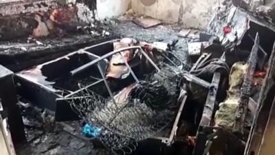 Yangında ölen adamın el ve ayaklarının zincirle bağlı olduğu ortaya çıktı