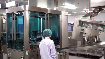 lyon -  - Çin'deki Sinopharm Covid- 19 aşı üretim tesisi görüntülendi