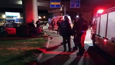 Keşan'da feci kaza...Sürücüsünün kontrolünü kaybettiği araç köprü duvarına çarptı: 1 ölü 2 yaralı