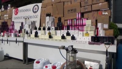 imalathane -  İstanbul'da sahte parfüm operasyonu: 21 bin şişe taklit ürün ele geçirildi