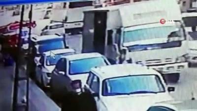 Korkunç kazanın güvenlik kamera görüntüleri ortaya çıktı...Metrelerce böyle sürüklendi