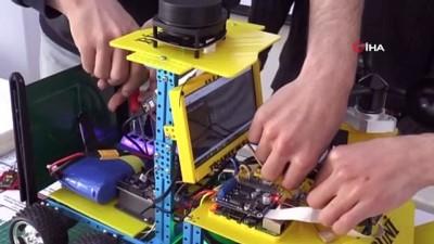 Lise öğrencileri kutuplar için robot tasarladı