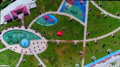 Tuşba Belediyesi'nin sahil parkı göz kamaştırıyor