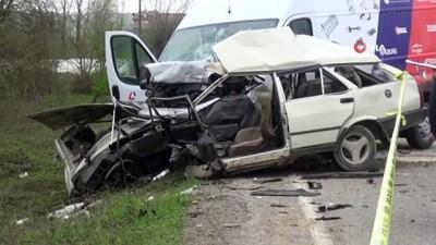 Bartın'da trafik kazası: 1 ölü, 1 yaralı