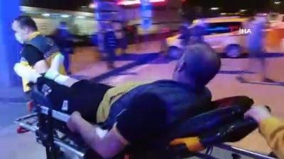 Damadıyla silahlı saldırıda yaralandı, sedye üzerinde tehditler savurdu