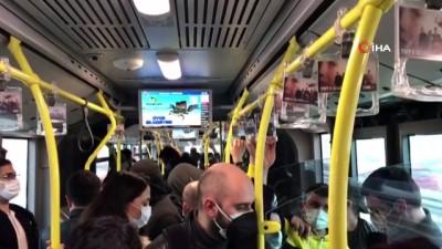 metrobus duraklari -  Hafta sonu sokağa çıkma kısıtlaması başladı