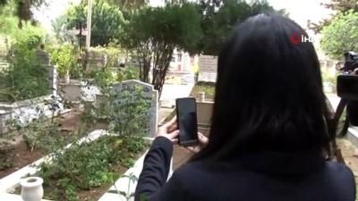 İzmir'den, Antalya'ya 'görüntülü mezar ziyareti'