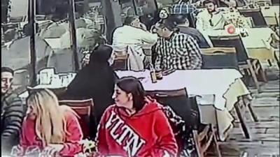 hirsiz -  Fatih'te yemek yerken 27 bin 400 lirası çalındı...O anlar saniye saniye kameralara yansıdı