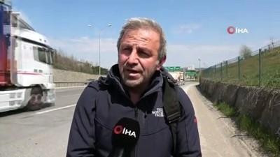 'Nafaka mağduruyum' diyen adam sesini duyurmak için İstanbul'dan Ankara'ya yürüyor