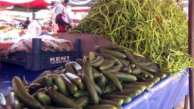 Ramazanın ilk haftasında semt pazarlarında salatalığa zam