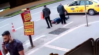Taksicinin vurulduğu dehşet anları kameralara yansıdı