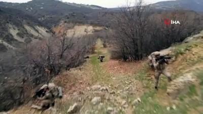 Tunceli'de teröristlerin kullandığı 3 mağara ve EYP imha edildi
