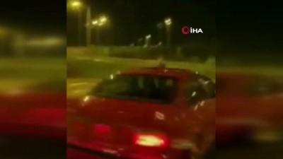 Aracıyla kız arkadaşının etrafında drift yapan şahsa 13 bin TL ceza