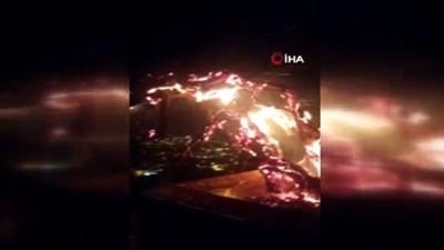 Bodrum'da bayrak tepesi alev alev yandı