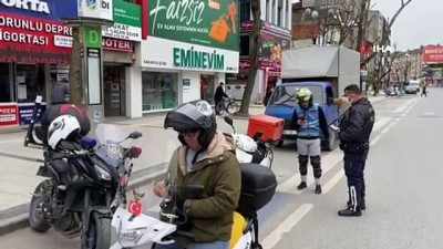 Motosikleti ile izinsiz sokağa çıktı 5 ayrı ceza yedi