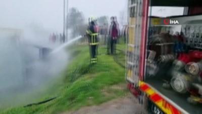 Sinop'ta odunlukta çıkan yangın eve sıçramadan söndürüldü