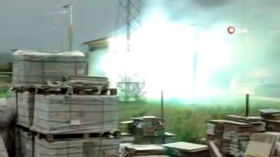 Trafo bomba gibi patladı: Yaşanan patlamalar ilçeyi elektriksiz bıraktı