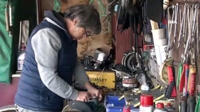 sanat eseri -  Üsküdar'da go kart hurdalarını sanat eserine çeviriyor