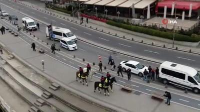 atli polis -  Üsküdar Sahili'ndeki Atlı birlik denetimlerine turistlerden yoğun ilgi