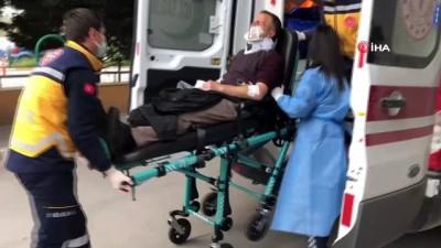 Caddeden geçen 2 kişinin yaralandığı çatışma güvenlik kamerasına yansıdı
