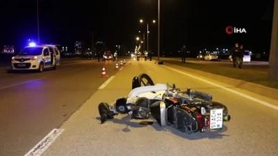 Motosikleti devrilen 18 yaşındaki genç kazada hayatını kaybetti