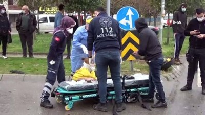 Otomobil ile motosiklet kavşakta çarpıştı: 2 yaralı