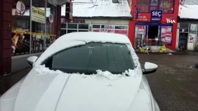 zabita -  Bingöl Karlıova'da Nisan ayında  kar yağışı